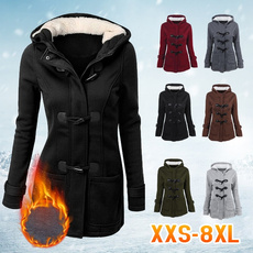 hoodedcoatsforwomen, Plus Size, hooded, Winter