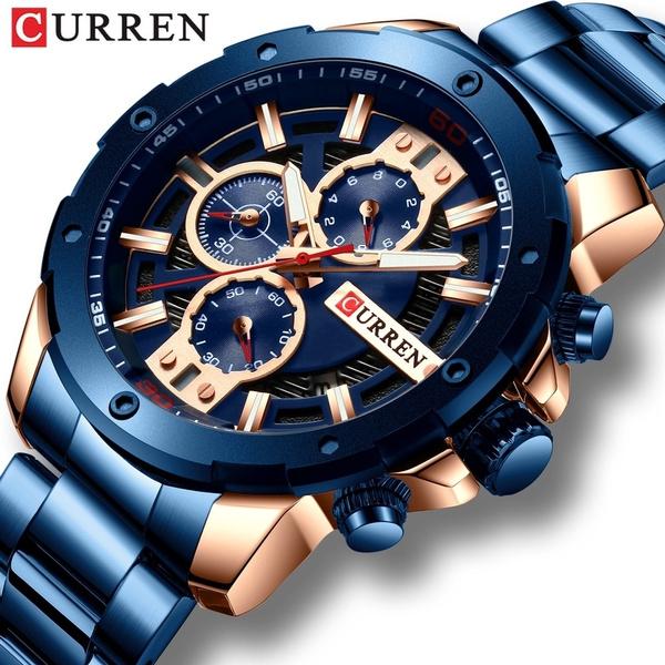 Steel, Chronograph, Fashion, chronographwatch