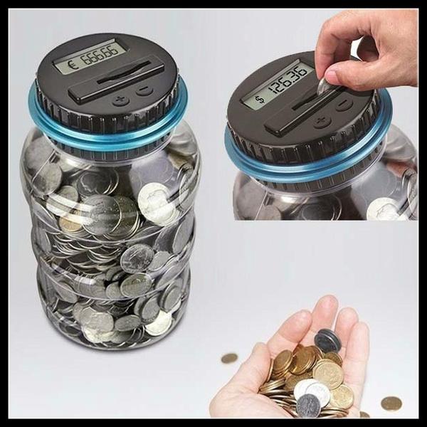Box, piggybank, moneycounter, moneybox