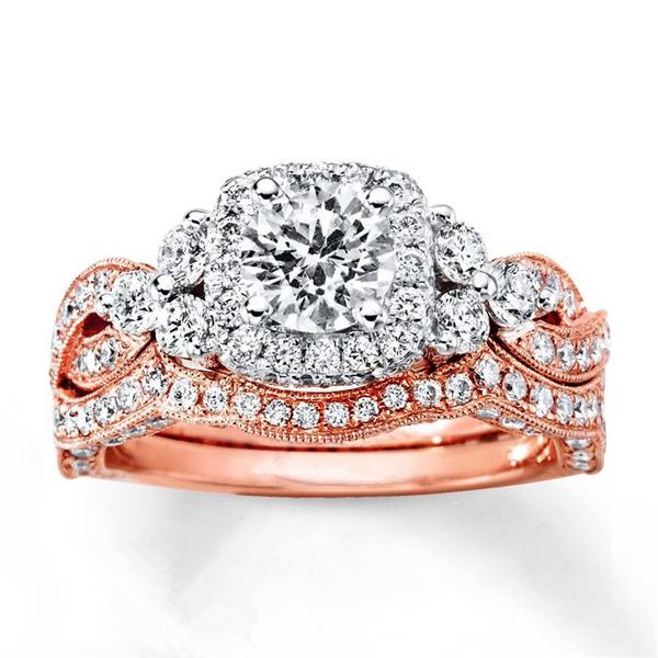18 k, Vintage, DIAMOND, wedding ring