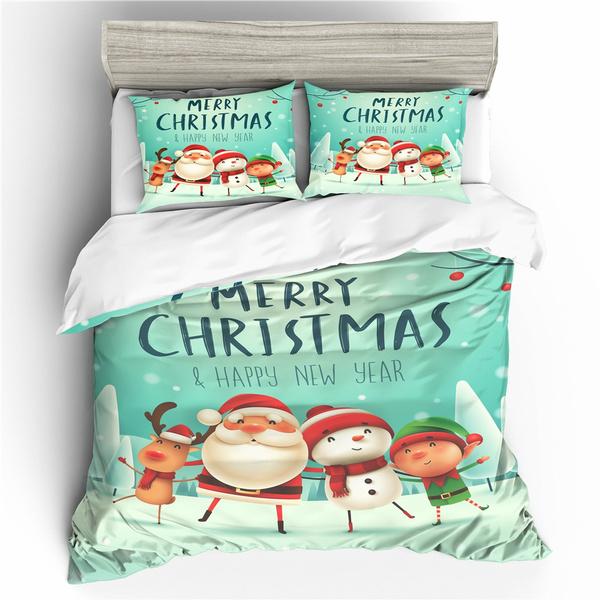 snowman, comforterbeddingset, Christmas, doonacover