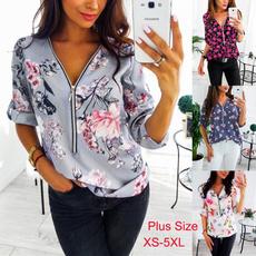 blouse, Plus Size, Shirt, printed shirts