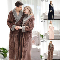 bathrobeforwomen, couplepajama, Fleece, winterpajama