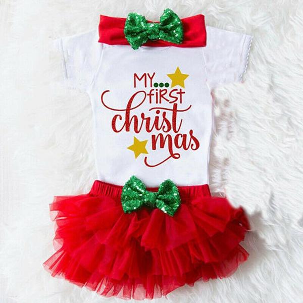 Shorts, ruffle, Christmas, my1stchristma