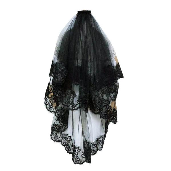 blackveil, weddingveil, Lace, Wedding Accessories