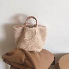 Fashion, fur, solidbag, Totes