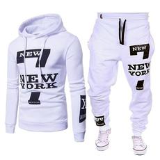 Fashion, Hoodies, letter print, pants