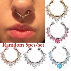 crystal ring, Jewelry, piercing, noseclip