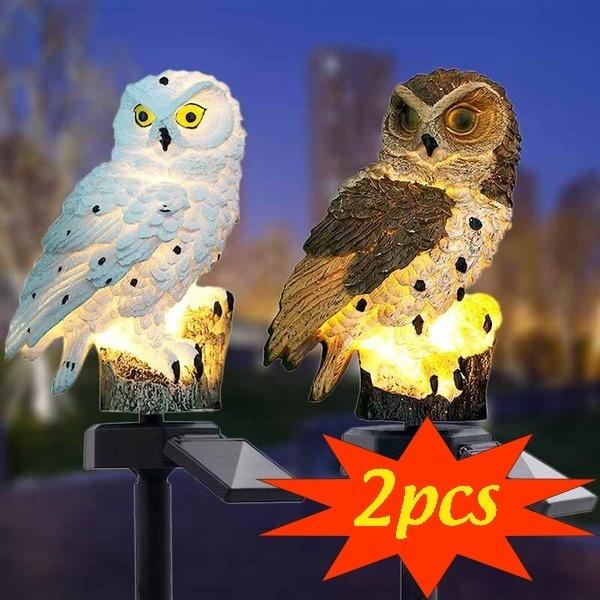 Owl, Lighting, led, Garden