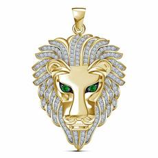 Head, DIAMOND, lionheadnecklace, Jewelry
