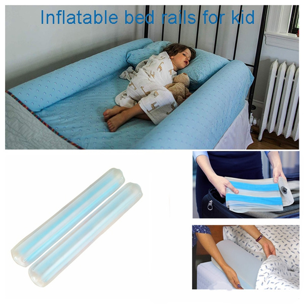 Inflatable Travel Bed Rails For Toddlers Portable Bed Rail Bumper Great For Home Hotel Travel Kids Safety Guard For Bed 2 Pack Wish