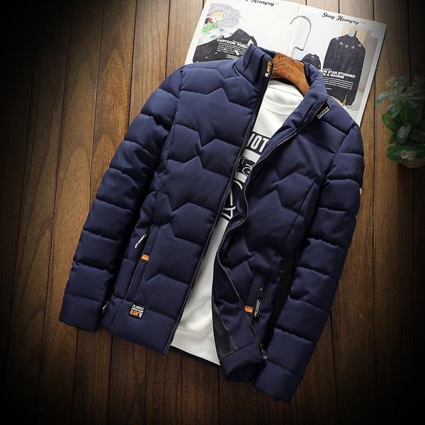 casual coat, Fashion, menscottonclothing, Winter