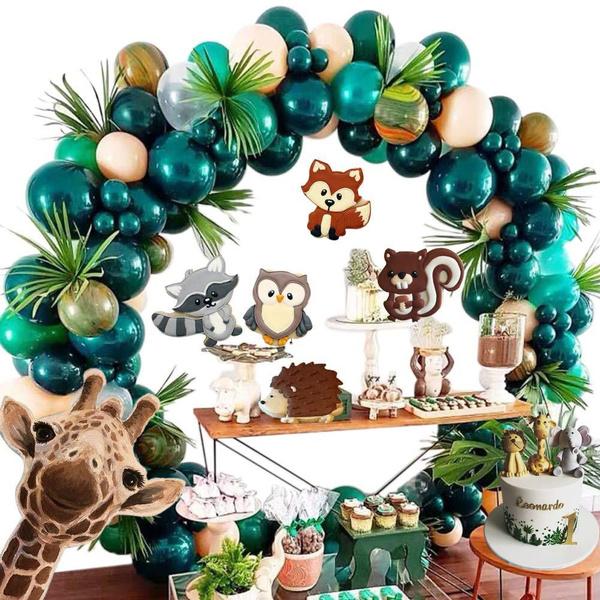 babyshower, balloongarland, Garland, safariparty