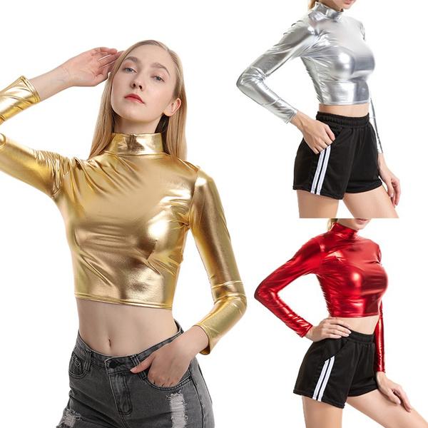 highnecktop, Slim Fit, crop top, Cloth