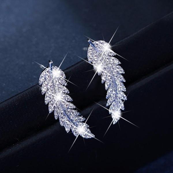DIAMOND, Silver Earrings, gold, Earring