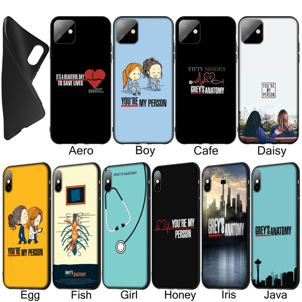 Greys Grey's Anatomy Soft Silicone Black TPU Cover Case for iPhone XR X XS 11 Pro Max 10 6 6S 7 8 Plus 5 5S SE Phone Case for Samsung Galaxy Note 10 ...