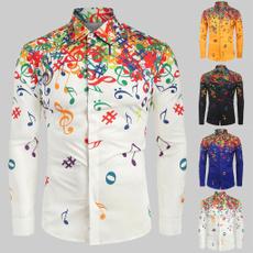 Turn-down Collar, blouse, Fashion, musicalnote