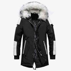 hooded, fur, Winter, coatsampjacket