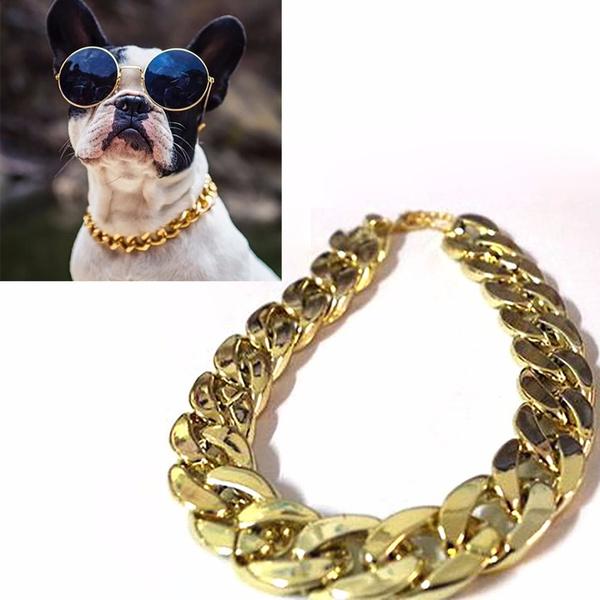 goldplated, puppy, Dog Collar, dogchain