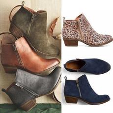 Plus Size, shortshoe, leather, Boots