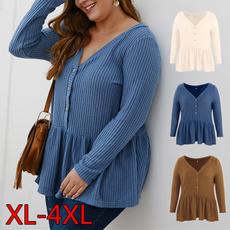 autumnandwinterknittedsweater, Knitting, Long Sleeve, Tops