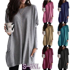 Plus Size, pullover sweater, Long Sleeve, Loose