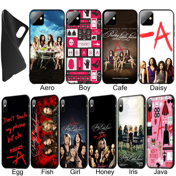 Pretty Little Liars Spencer Hannah Soft Silicone Black TPU Cover Case for iPhone XR X XS 11 Pro Max 10 6 6S 7 8 Plus 5 5S SE Phone Case for Samsung ...
