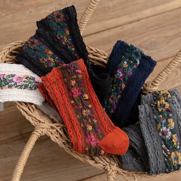 Cotton, Flowers, Hosiery, Winter
