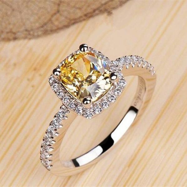 zirconsilverring, Women, Fashion, wedding ring