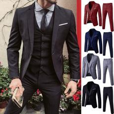 Fashion, Dress, 3piecessuit, Men