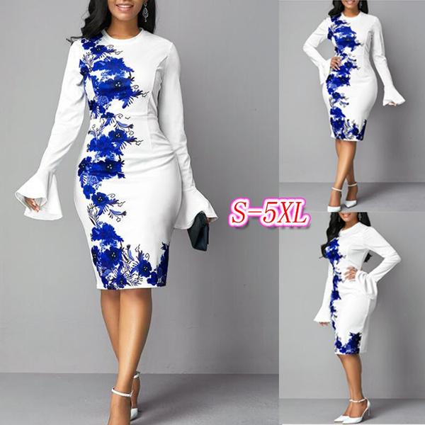 Flowers, Sleeve, floralprintdres, plus size dress