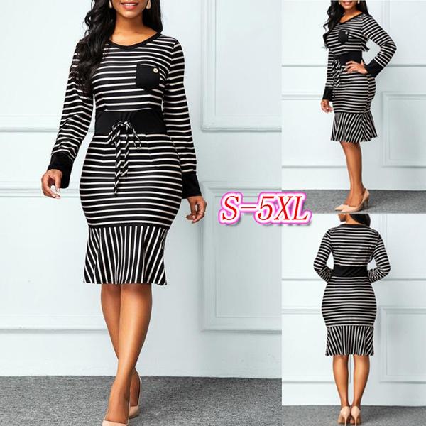 plus size dress, high waist, Sleeve, highwaistdres