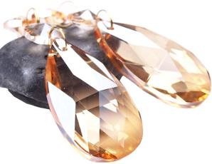 amber, gal, Crystal, prism