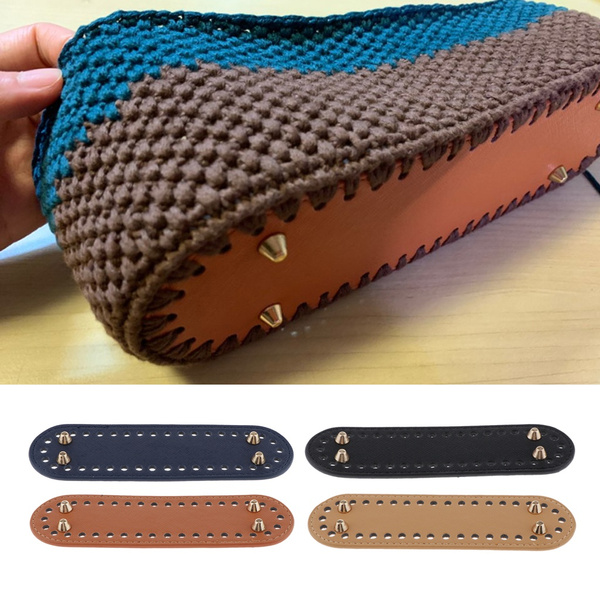 Crochet Bags Bottom Shaper Mat Cushion Pet Bag Pad Bottom Base with 60 Holes