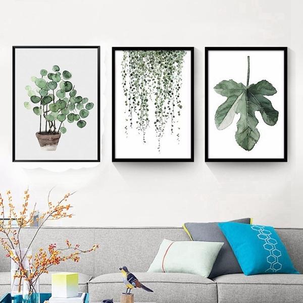 Plants, art, Home Decor, canvaspainting