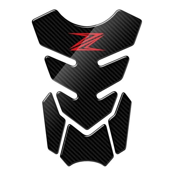 RESINATO EFFETTO 3D compatibile con KAWASAKI Z750 V12 TANKPAD PARASERBATOIO ADESIVO TANKSCHUTZ PROTECTION DE RESEVOIR