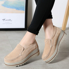 casual shoes, wedge, walking, Slip-On