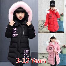 cute, downovercoat, fur, Winter