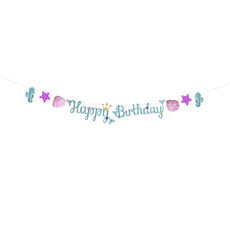 bunting, Birthday, Decor, Garland