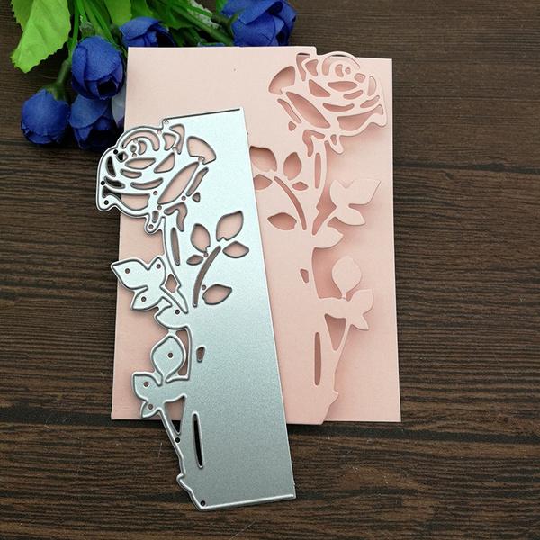 Flowers, Scrapbooking, Rose, edgecut
