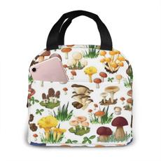 Box, School, Mushroom, Garden