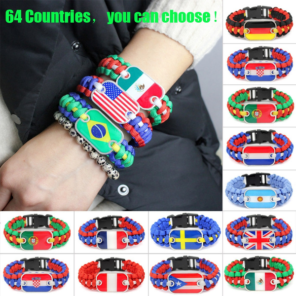 Brazil, Football, spainflagbracelet, nationalflagbangle