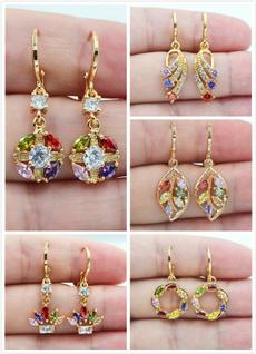 Jewelry, gold, Topaz, 18 k