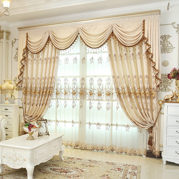 Luxury Curtains For Living Room Modern, Living Room Curtains With Valance