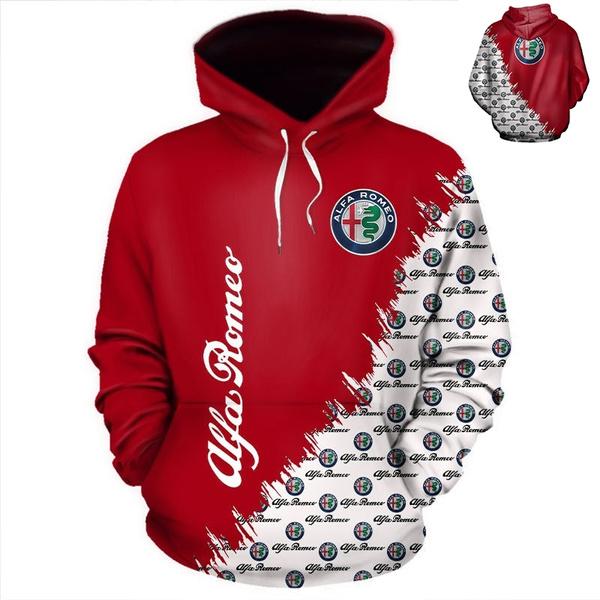 3D hoodies, alfaromeo, pullover hoodie, Sleeve
