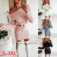 Women's Fashion, strapless, Women Sweater, sweater dress