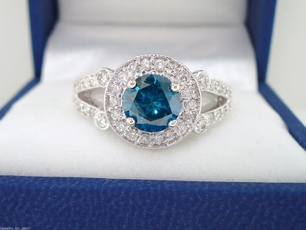Couple Rings, Blues, DIAMOND, wedding ring