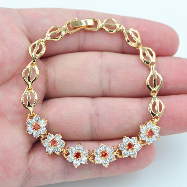 Charm Bracelet, cute, Fashion, gold