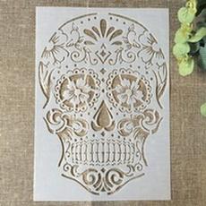 Craft Supplies, stencil, Wall Art, scrapbookingphoto