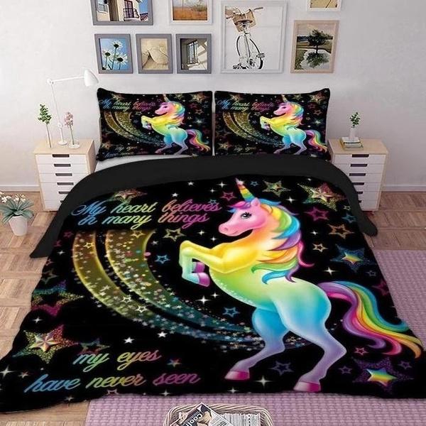 beddingkingsize, rainbow, King, Home & Living
